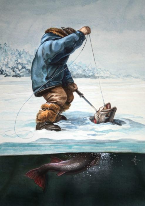 рыбалка в старину