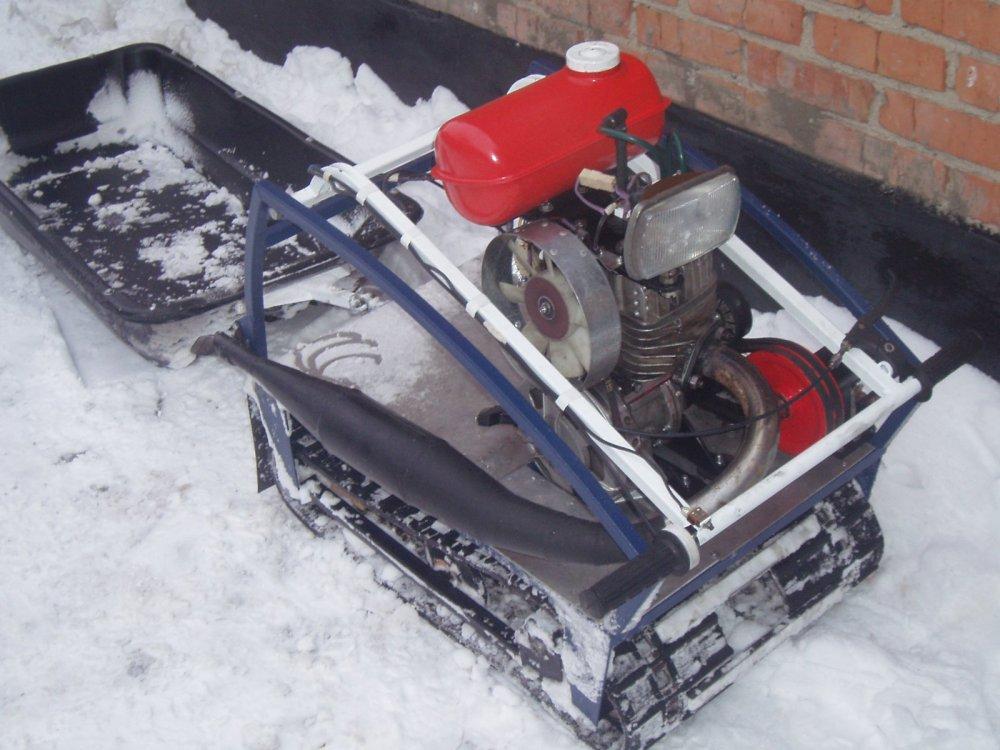 Снегоход своими руками из мотособаки