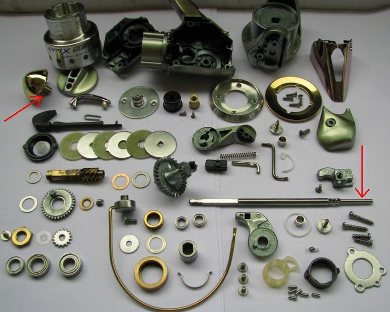 ремонте спинингов и катушек