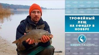 Трофейный лещ поздней осенью на #фидер | Рыбалка с Родионом