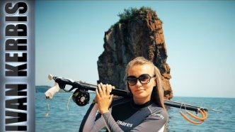 На дальневосточных берегах. Подводная охота в Японском море, Приморский край.