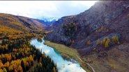 Река Чуя. Заброшенная Чуйская (Акташская) ГЭС С ВЫСОТЫ
