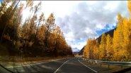 Осенняя дорога к недостроенной Чуйской (Акташской) ГЭС.