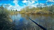Рыбалка на реке с поплавочной удочкой / Ловлю микро голавлей на удочку