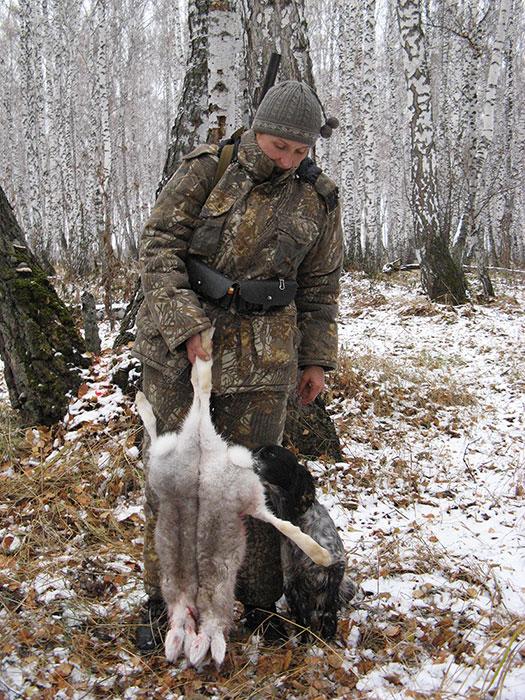 Итог работы русского спаниеля. 27/10/2007 через 3 часа после выхода в поле.