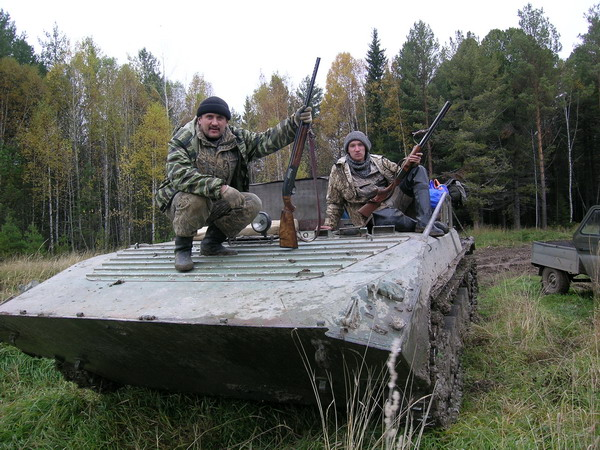 Так передвигались по Томской тайге.(Бездорожье не преграда)