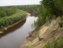 Таежная река Ларь-еган