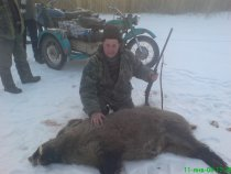 Охота на поросенка в казахских степях.Озеро Балхаш
