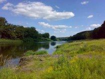 река Томь, протока у села Митрофаново.