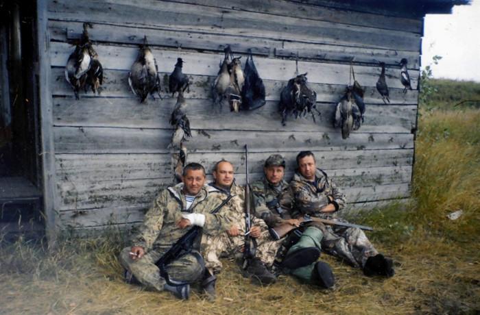 В сентябре 2007 года. Слава, Игорь, Я и Гоша.