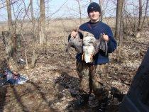 Весна 2008: Мой сын первый раз взял гуся