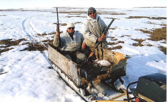 охота на гуся на Таймыре