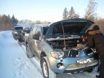 Томская обл. мороз -34   пикап околел.