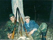 с другом и уткой , я слева 2001 г