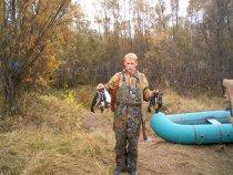 На заготовке икры пеляди,осень 2007,Парабельский р-он!