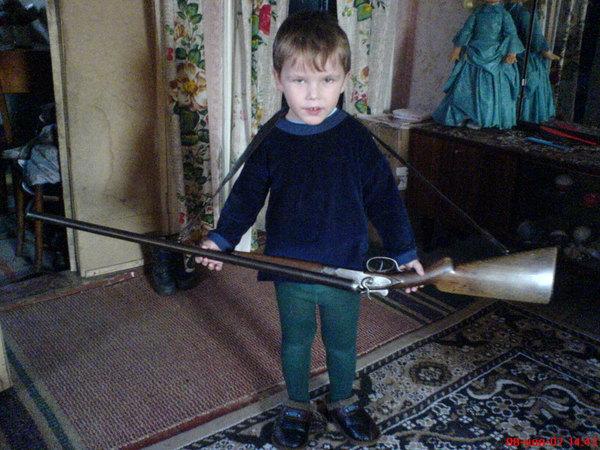 Влад - будущий охотник.