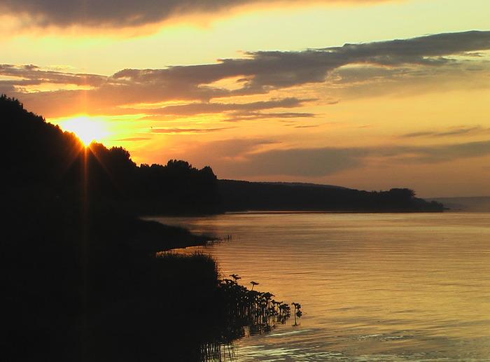 Река Томь закат солнца