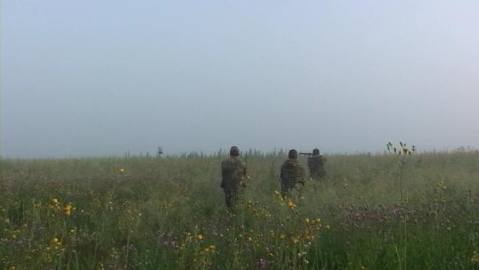 Кадр из видео..На полевых испытаниях