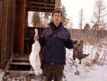 После удачной охоты,  февраль 2009
