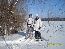 С дядей Вовой на охоте за зайцем в Маслянино