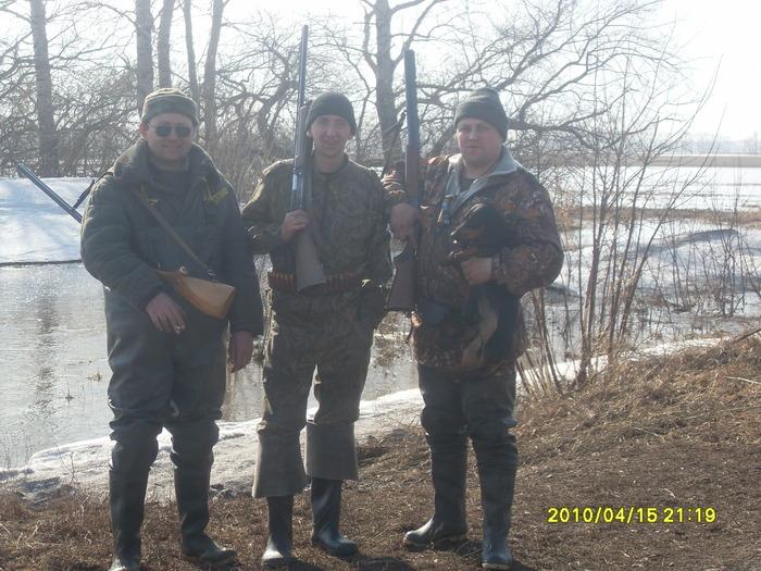 Я, Игорь, Вован и молодой Риф.