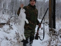 По первому снегу на зайчика