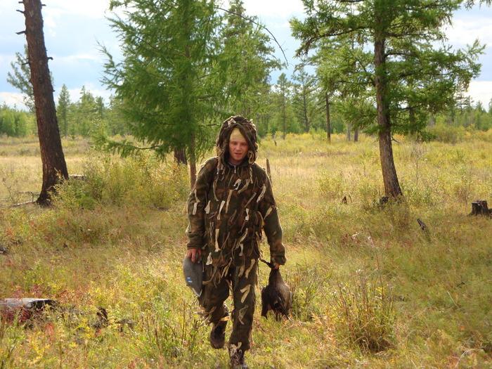 батя идет с охоты