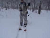 на снегоходе доехали - на лыжи встали!!!
