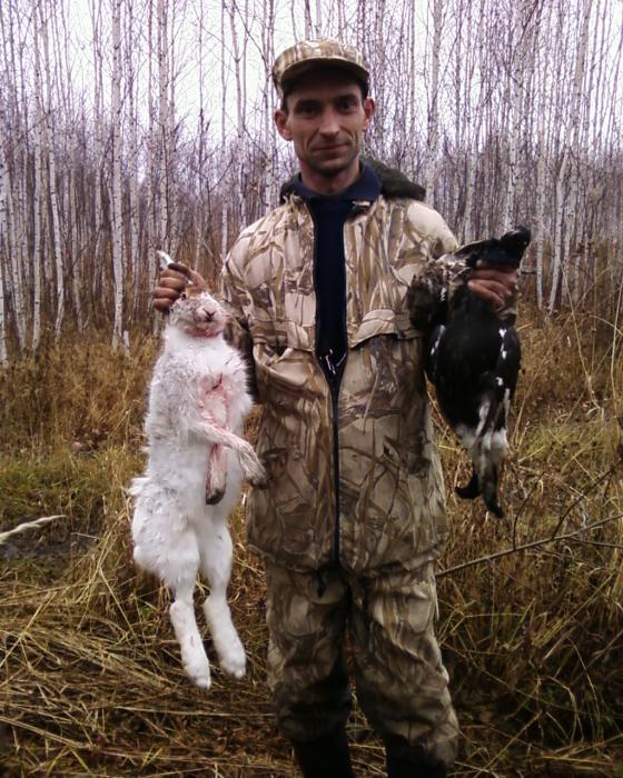 Осенняя охота на зайца