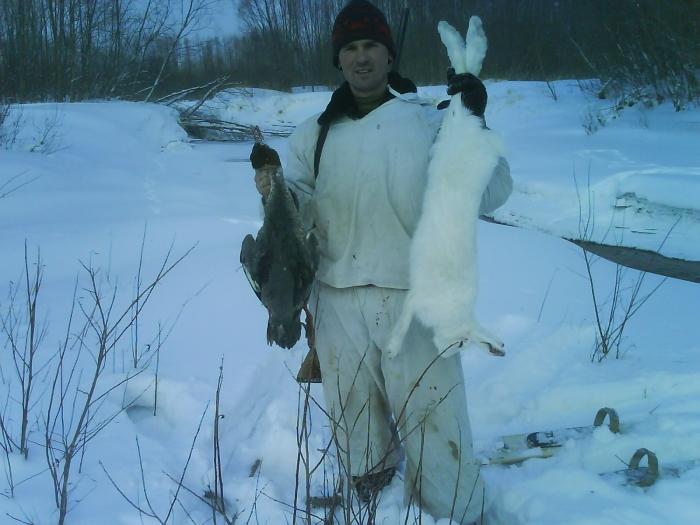 вот такая вот охота-зайка и крохаль!