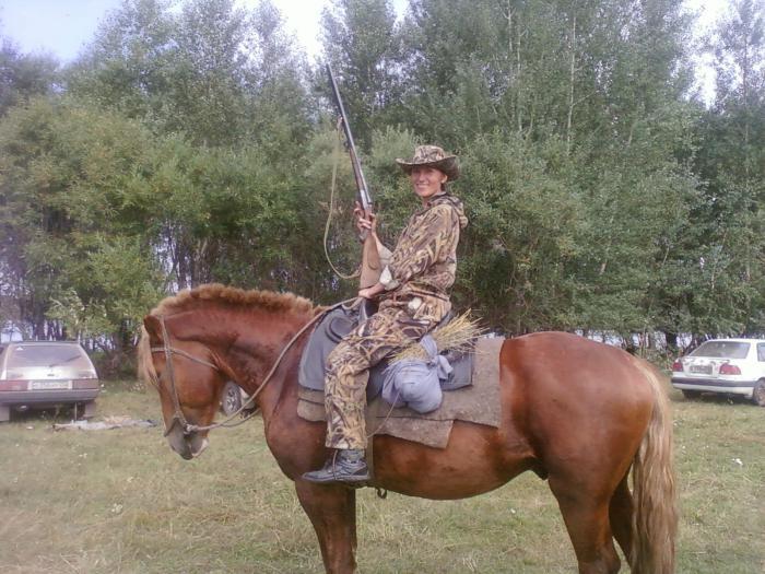 а вы пробовали на лошади за тетеревами?