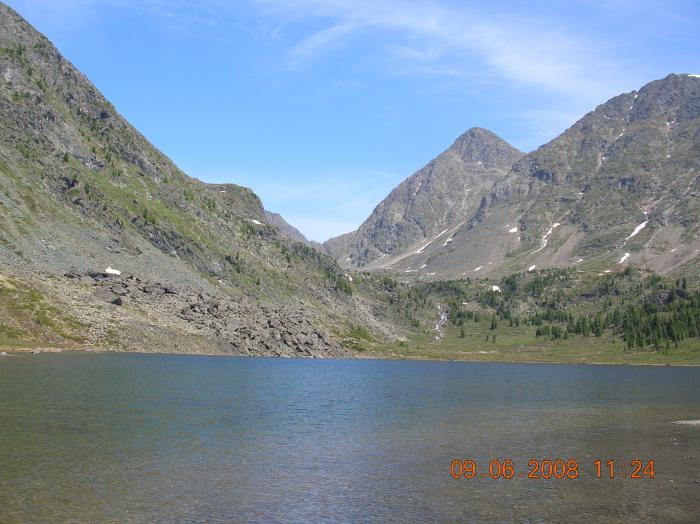 озеро со стандартным хариусом высота 2100