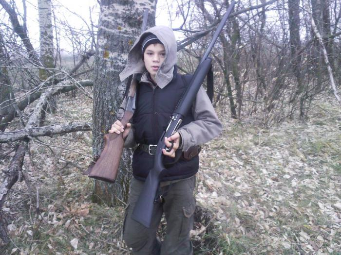 На охоте с отцом
