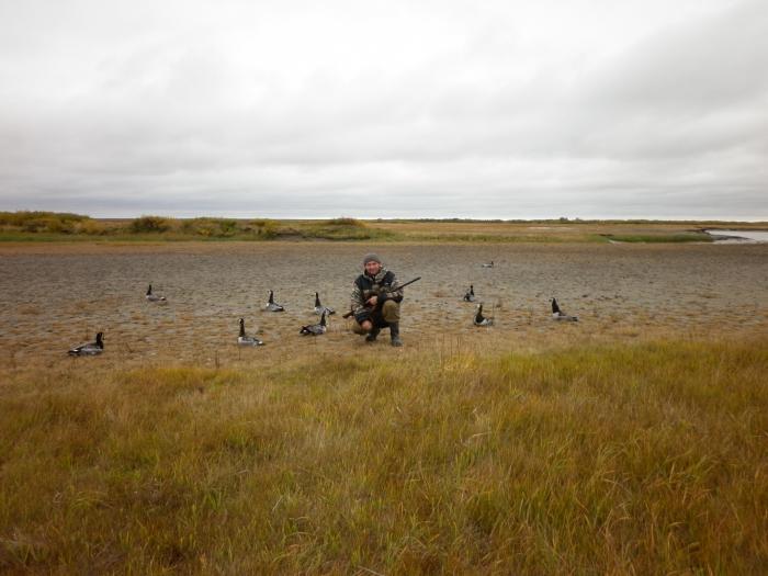 Охота на гусей, Голубница, сентябрь 2011