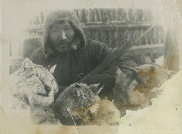 Дедушка Андрей. 50-е годы, Чымынаайы, Таатта, Якутия.