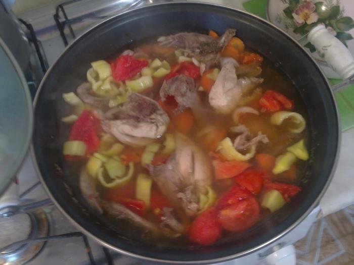Рябчики с овощами.))))))