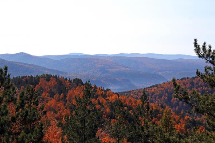Осень, долина реки