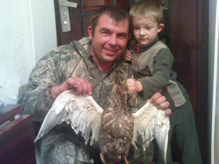 удачная охота с сыном