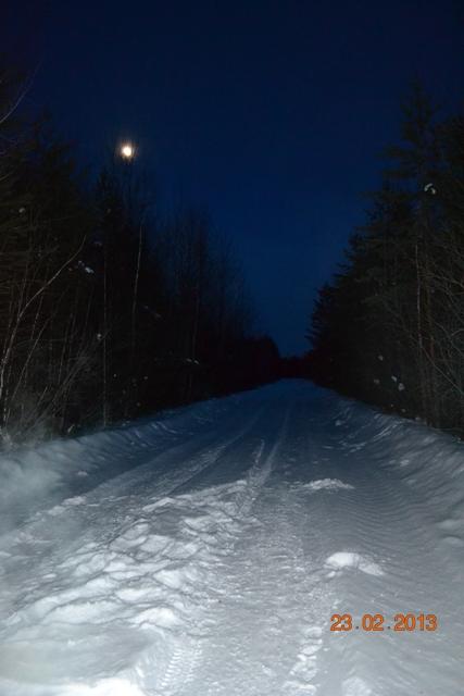 зимний вечер, дорога домой
