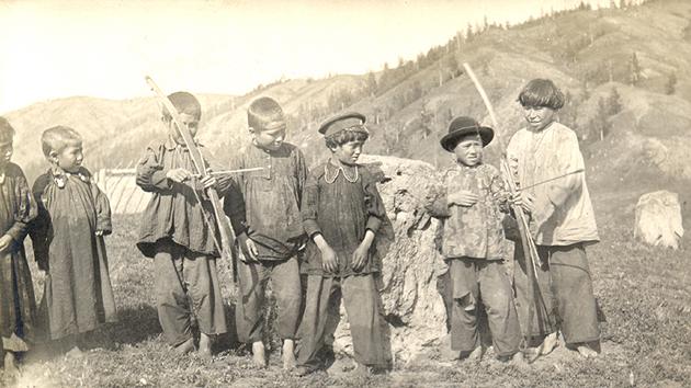 Детские игры. Сагайцы (хакасы) Байский улус  1913г