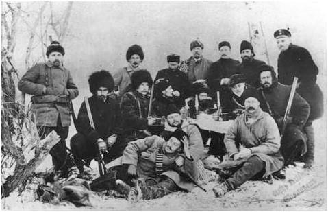 Якутские казаки на охоте