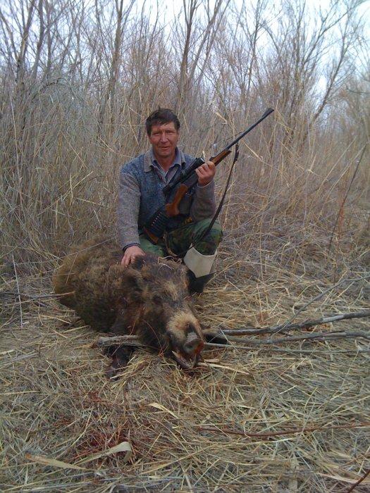 охота на реке ИЛИ казахстан