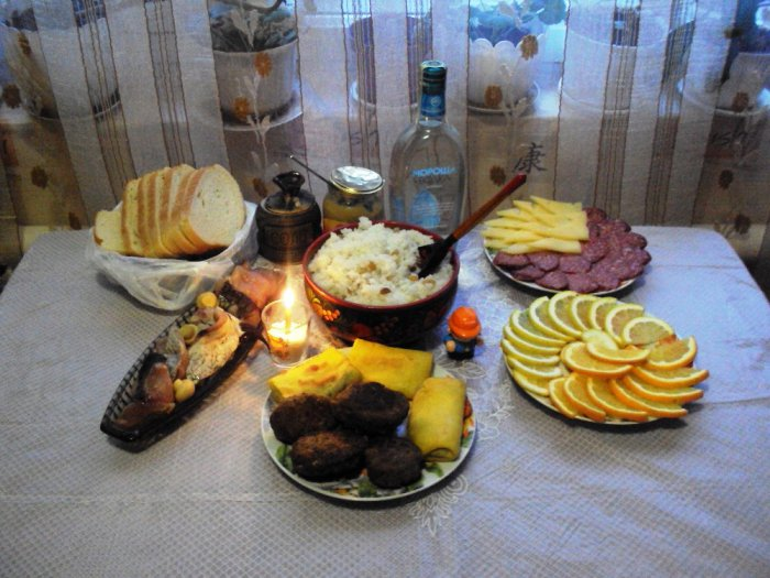 Зі Святою Вечерею .