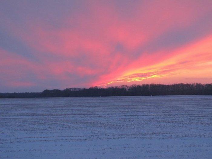 Закат в январе