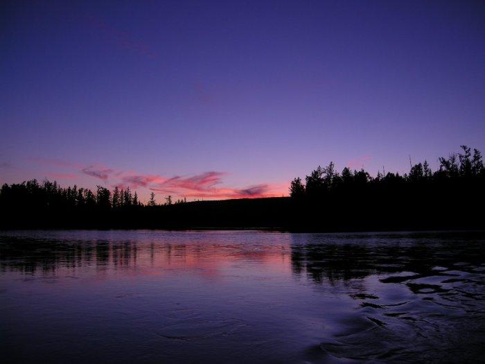 Вечер над Енисеем
