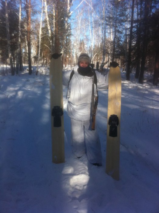Масхалат и лыжи зимой- СИЛА!