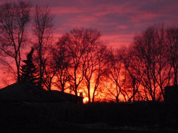 Закат в моей деревеньке....
