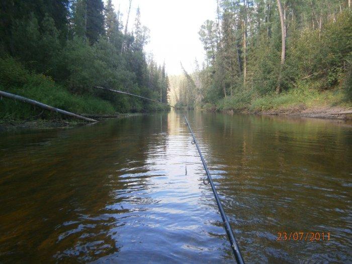 лесная сибирская речка Тушама
