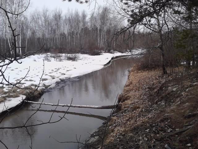 небольшая северная речка г. Урай, ХМАО