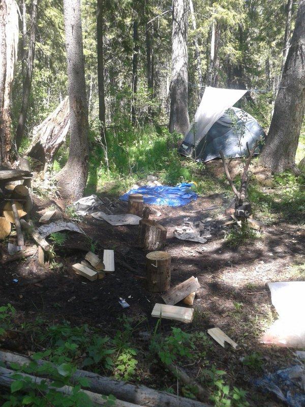Промежуточный лагерь .